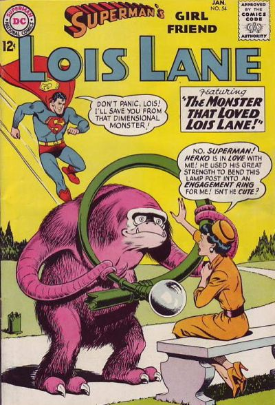 Episode #378 Part II: Superman Family Comic Book Cover Dated January 1965: Superman's Girl Friend Lois Lane #54!