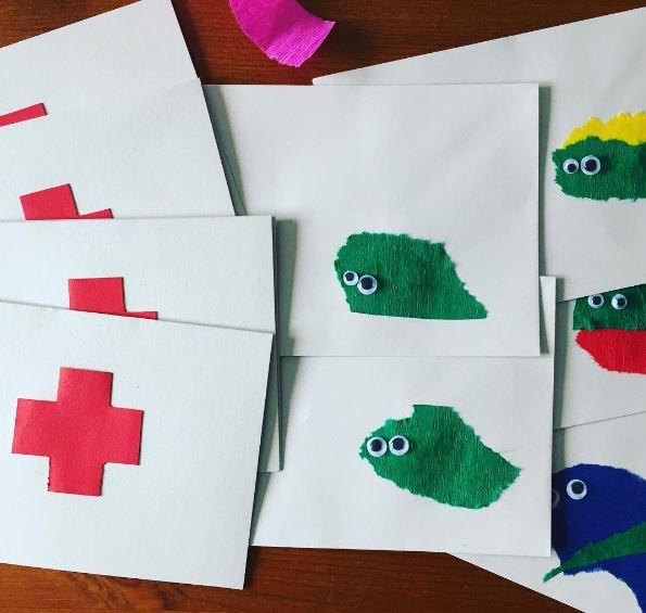 Kindergeburtstag mit Krankenhaus-Motto - Die Einladungen