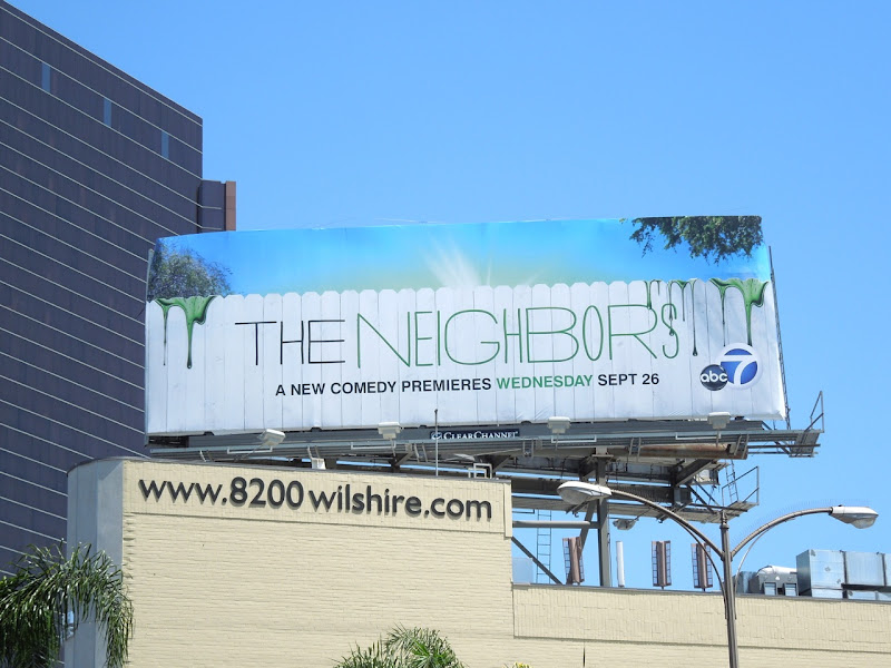 Neighbors sitcom billboard
