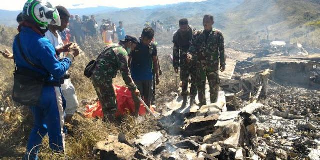 Pesawat TNI AU yang Jatuh Di Papua Sudah Ditemukan, Ini Dia Lokasinya.