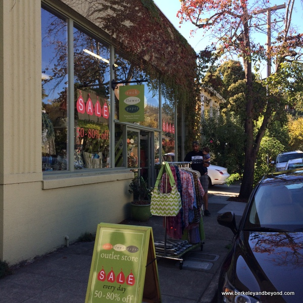exterior of rockflowerpaper shop in San Anselmo, California