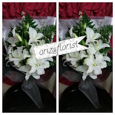 jual bunga lily di surabaya, beli buket bunga surabaya, harga buket bunga di kayoon surabaya,
