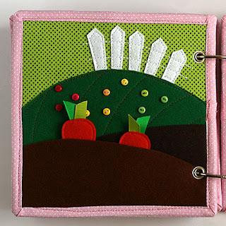 Garden quiet book page