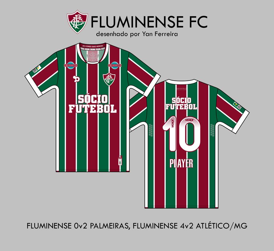 Torcedor reproduz as camisas usadas pelo Fluminense no Brasileirão ... 34ce99e0e05c1