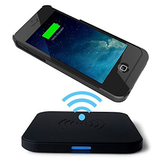 Caricabatterie Wireless QI+ Ricevitore Wireless per iPhone 5/5S
