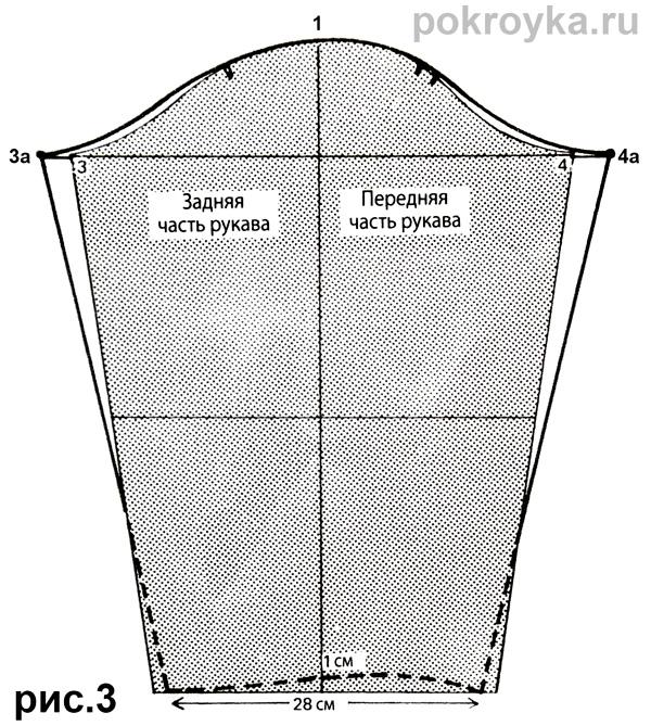 Выкройка халата с отложным воротником