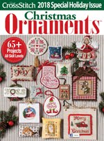 FIND BLUE RIBBON DESIGNS IN THE JUST CROSSSTITCH 2018 ANNUAL CHRISTMAS ORNAMENT ISSUE