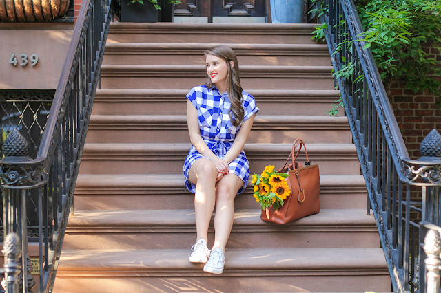 NYC Brownstones, Rails Brooke Dress, NYC Street Style