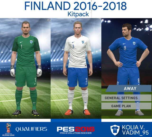 PES 2016 Finland Kit 2016-2018