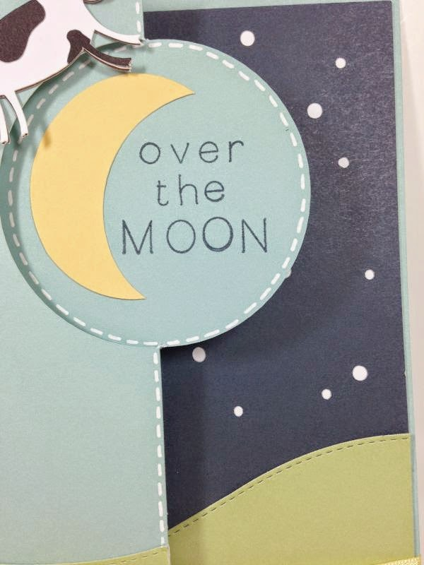 Close To My Heart Artfully Sent Cricut cartridge Over the Moon card closeup