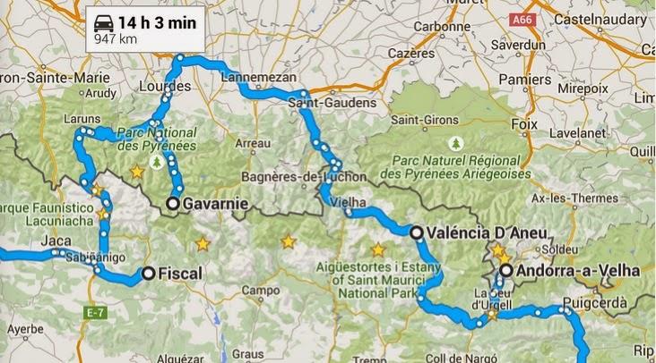 pirineus espanha mapa Turismo sem Clichê: Inverno nos Pirineus   roteiro de 9 dias pirineus espanha mapa