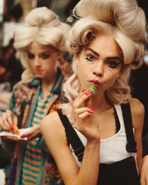 Backstage at Jeremy Scott NYFW S/S 2016