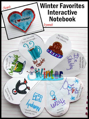 winter crafts interactive notebook craftivity