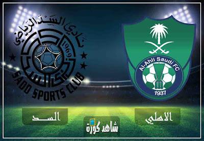 بث مباشر مباراة الاهلي والسد القطري اليوم