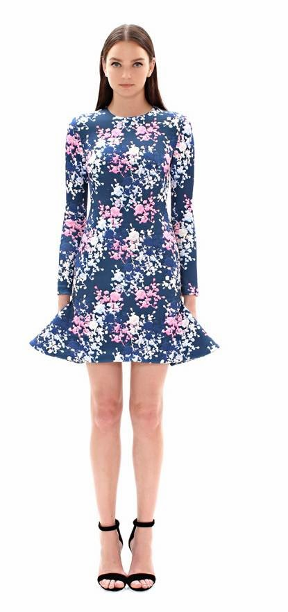 Cynthia Rowley floral flare dress