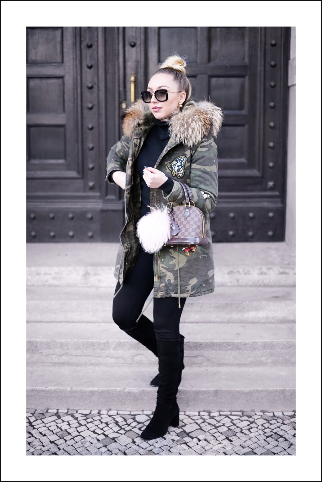 camo army parka_fur parka_camo jacket