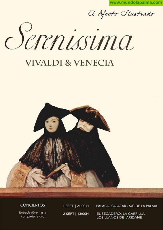 Conciertos en La Palma con Sereníssima Vivaldi & Venecia