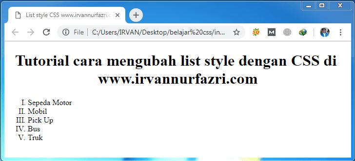 list style type roman - #irvangen