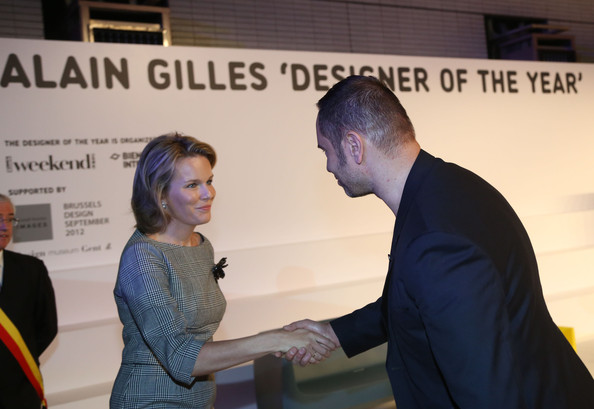 Crown Princess Mathilde of Belgium visited the 2012 International Design Biennale at Kortrijk Xpo