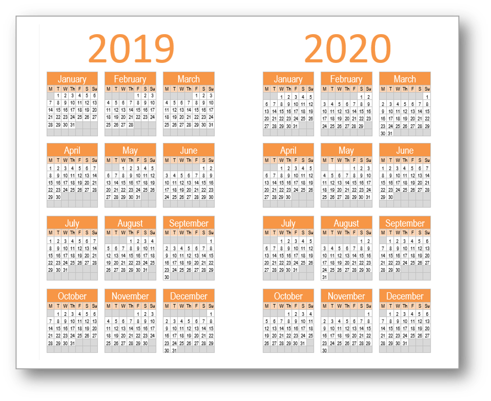 the yearly calendar will print equally well on a4 or letter paper each version includes two years cut each one out and fix to the cover of a booklet for a