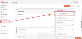 Cara Menambahkan dan Memasang Widget Pada Blog - SEO Blog