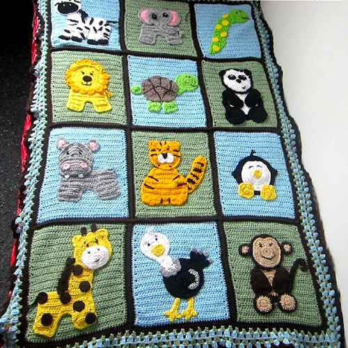 Zoo Blanket Base Pattern