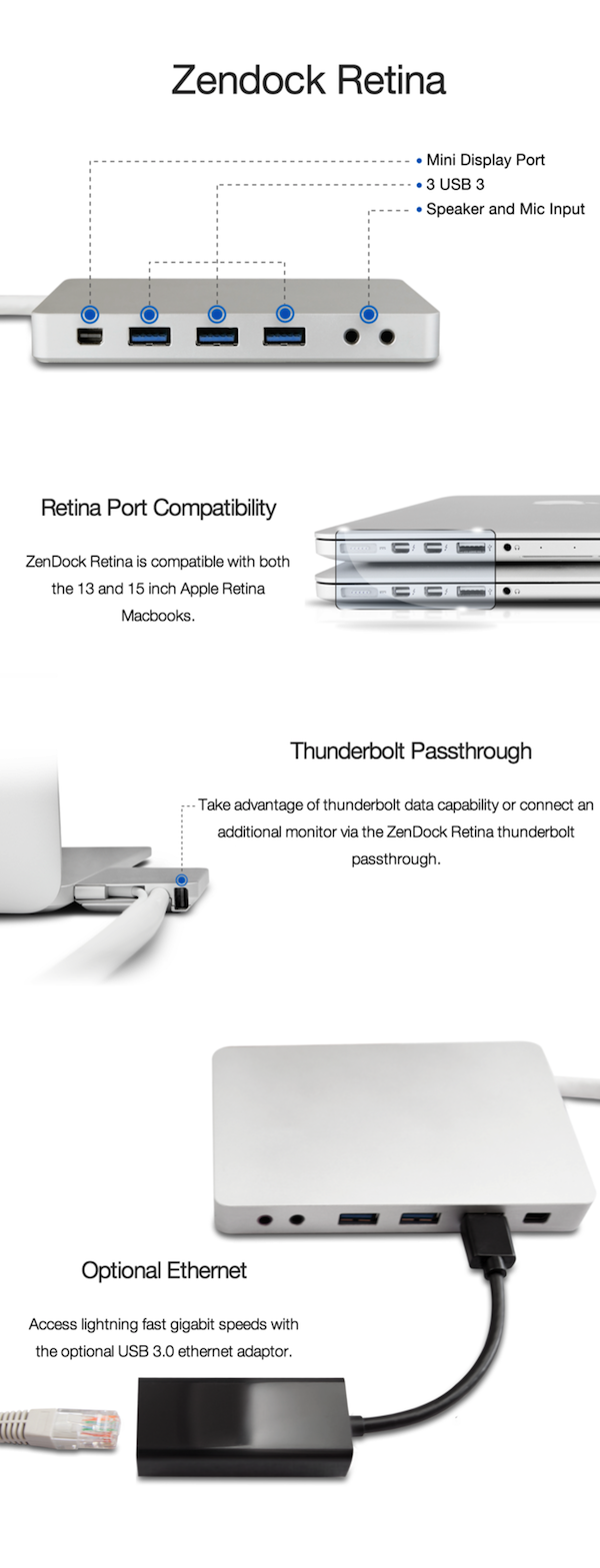 Zendock Retina Connection
