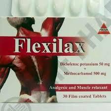 سعر ودواعى إستعمال أقراص فليكسيلاكس Flexilax مسكن للالم
