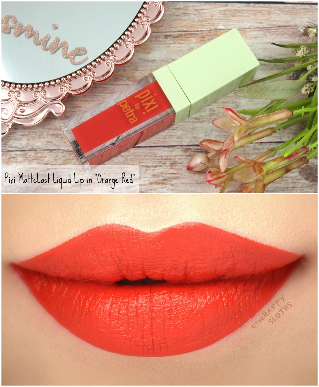 "Pixi | MatteLast Liquid Lip in ""Orange Red"": Review and Swatches"