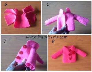 Tutorial cara membuat baju boneka dari kain flanel part 2