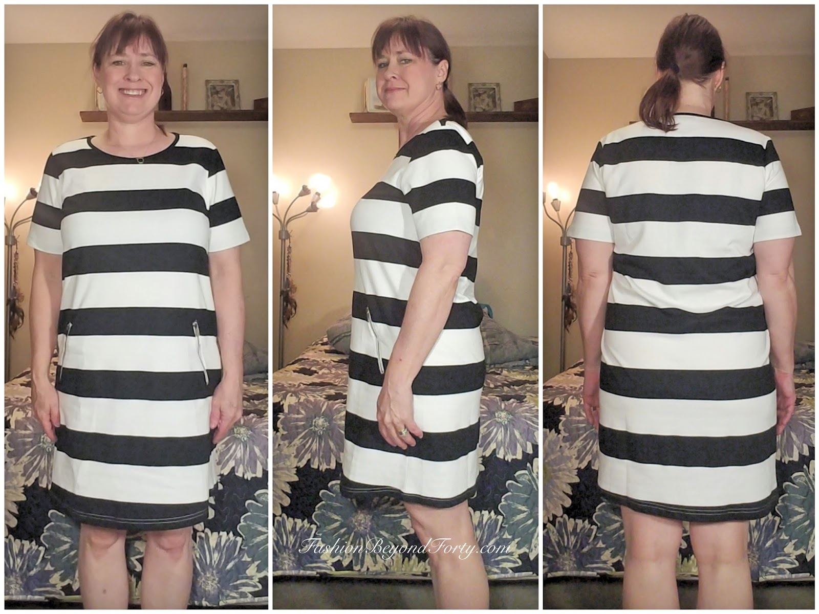 Glostory® Women's Casual Striped T-shirt Summer Dress 1786