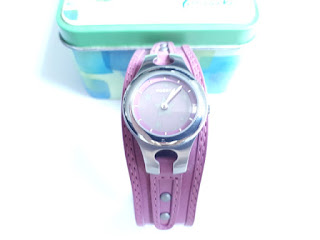 Jam Tangan Fossil Cewek Pink Dial Changes Color Like New