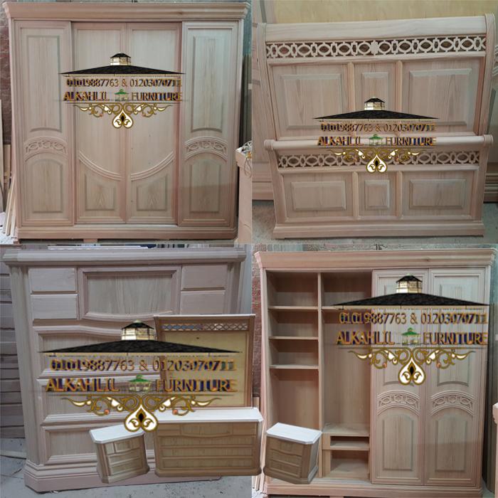 غرفة نوم مودرن 4 ضلفة جرار جودة عالية جدا برجولات خشبية