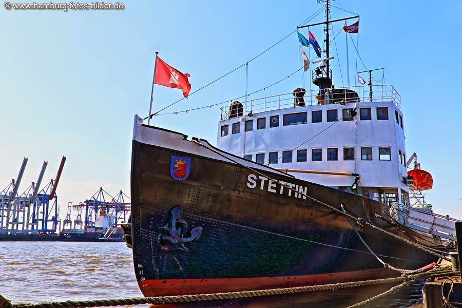 Historischer Eisbrecher Stettin im Museumshafen Hamburg
