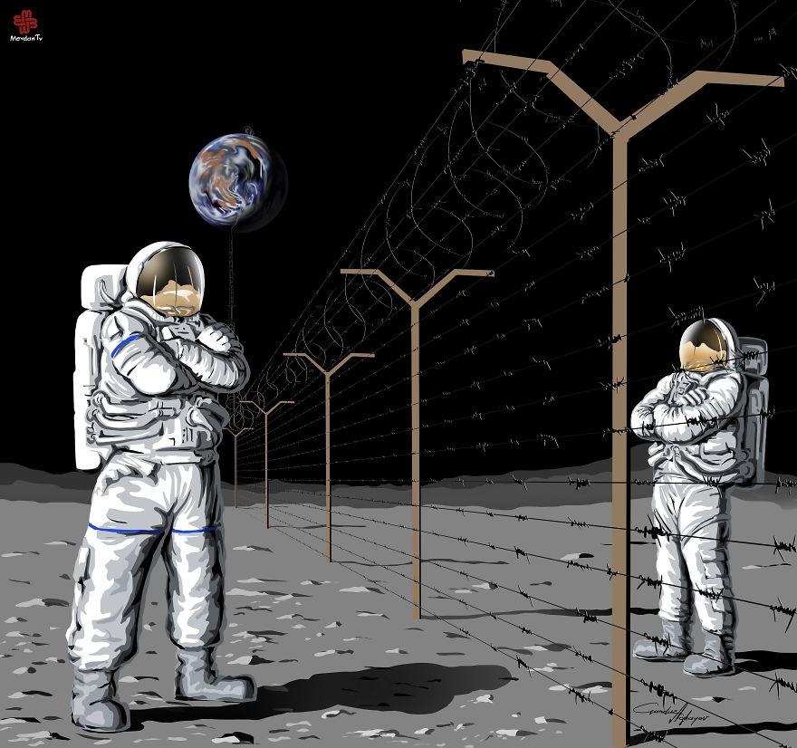 06-Gunduz-Agayev-Satirical-Illustrations-Shine-a-Light-on-Complex-Problems