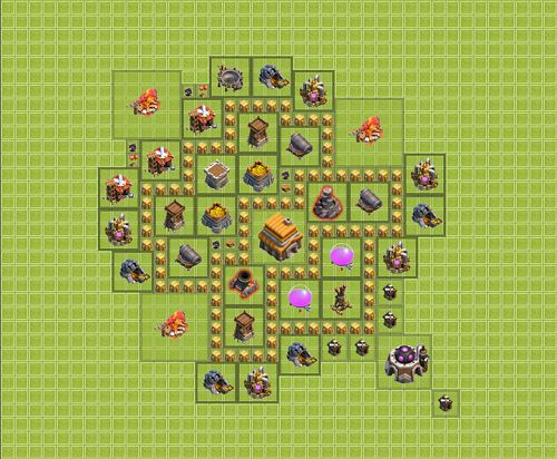 Clash of Clans Town Hall 5 Hybrid Type 2