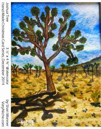 Watercolor Painting of a Joshua Tree by Shari Monner, VaryNiche.com