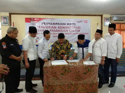 Sebagian Administrasi Balon Walikota dan Wakil Walikota Tangerang Belum Lengkap