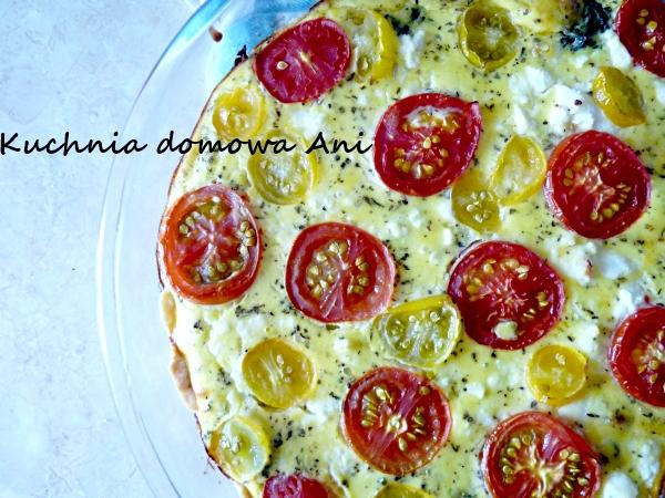 Kuchnia Domowa Ani Tarta Ze Szpinakiem Fetą I Pomidorami
