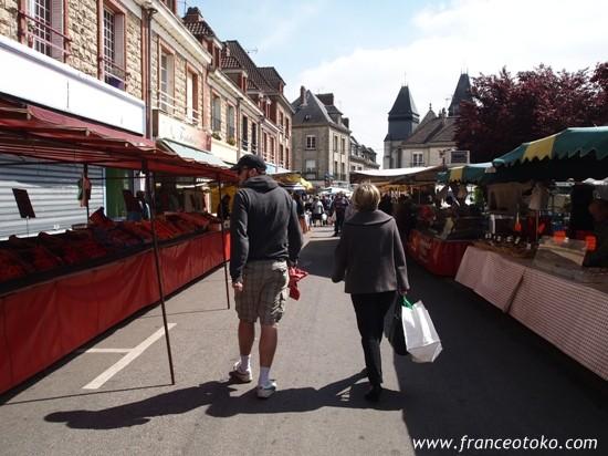 フランスのマルシェ・フランス男