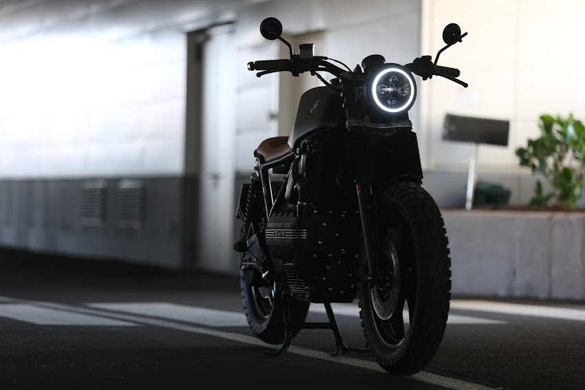 Close-Up Photography of Parked Motorcycle