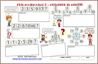 Descubre el número, El número que falta, Cuál es el número que falta, Juegos con números