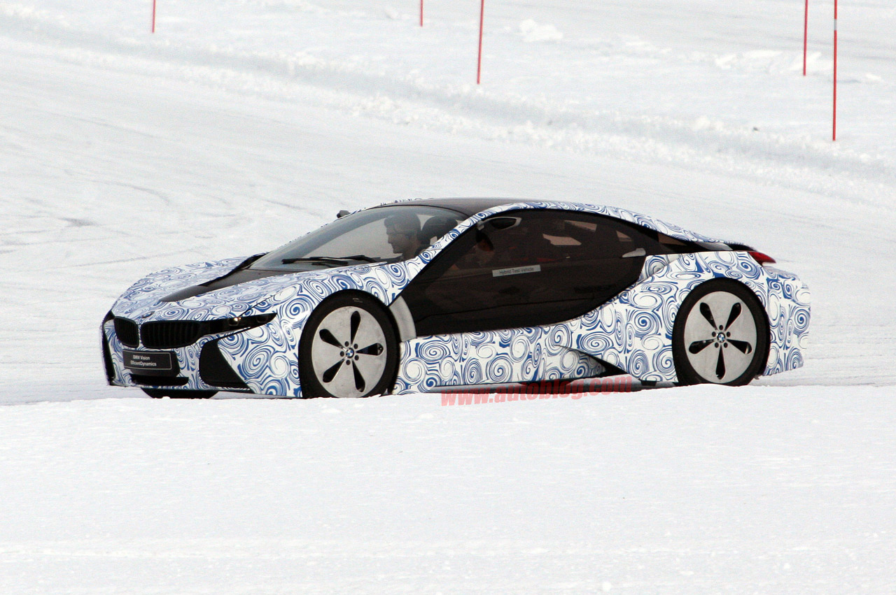 Bmw I8 E Flagrado Na Neve