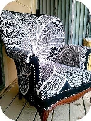 fotel Zentangle