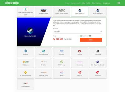 Mengisi Steam Wallet tanpa Kartu Kredit  Tutorial Membeli Voucher Steam Wallet di Tokopedia Murah