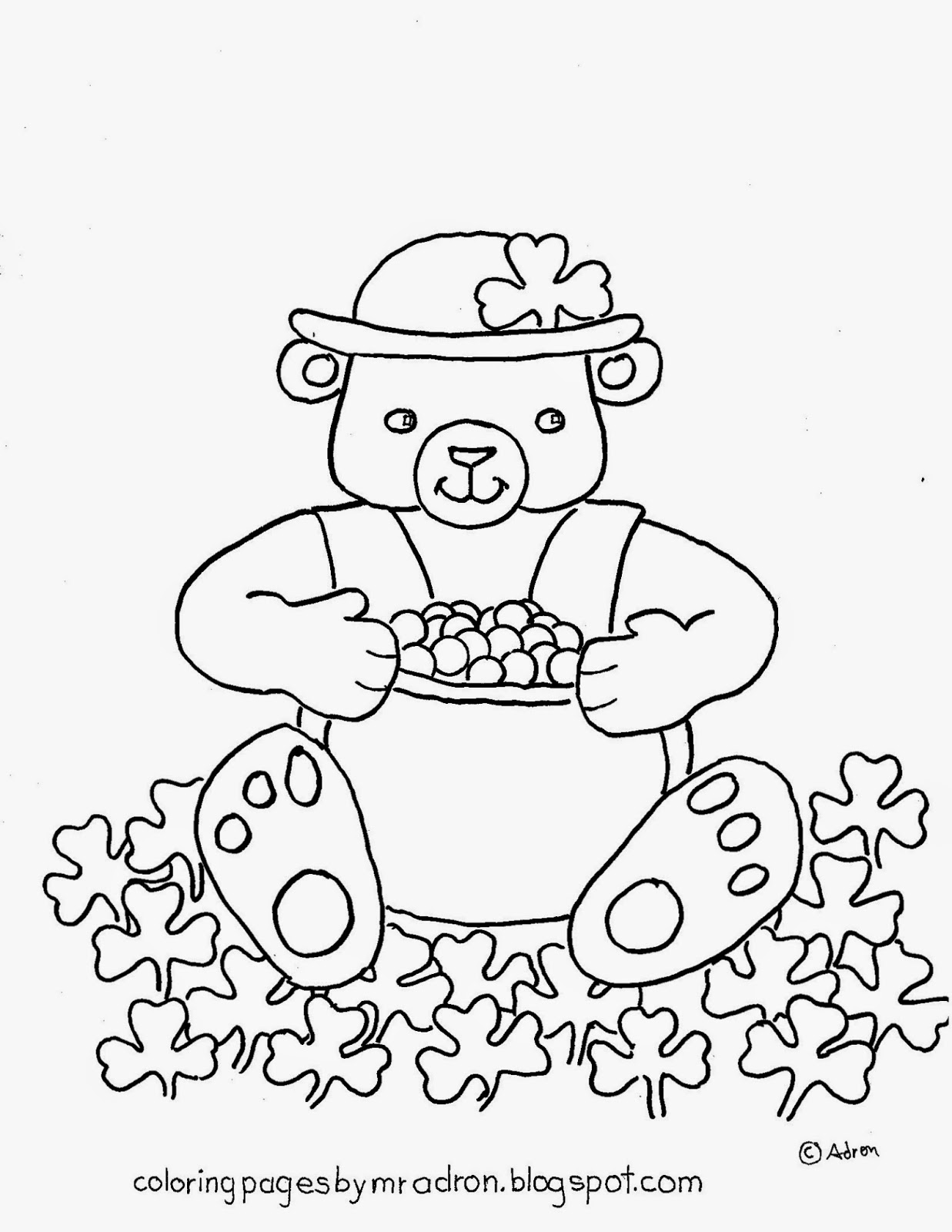 Coloring Pages For Kids By Mr Adron St Patrick S Day