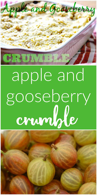 Really Easy Apple and Gooseberry Crumble