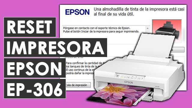 resetear almohadillas impresora Epson EP306