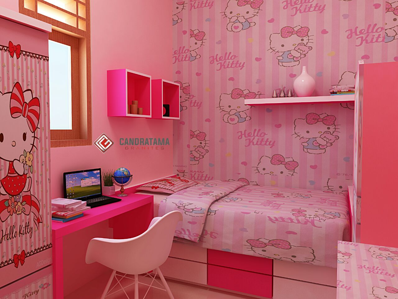 √ 35 desain kamar tidur hello kitty untuk anak perempuan terbaru