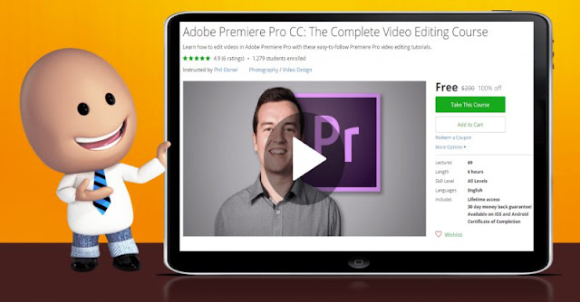 [100% Off] Adobe Premiere Pro CC: The Complete Video Editing Course| Worth 200$